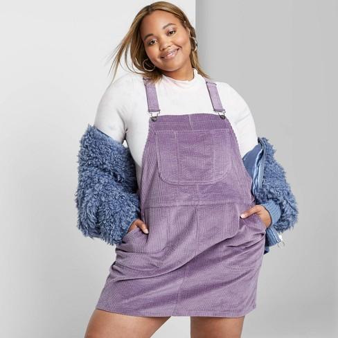 Women\'s Plus Size Sleeveless Corduroy Mini Dress - Wild Fable™ Lavender
