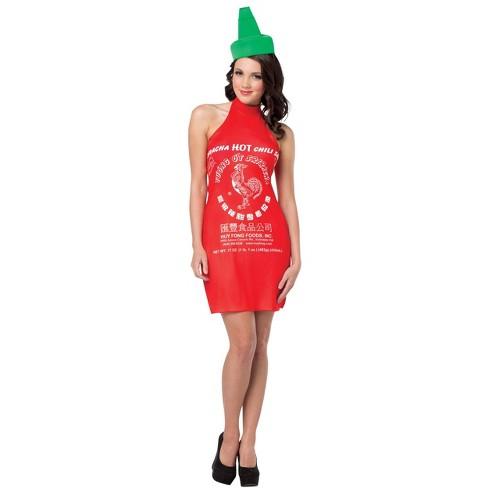 Women's Sriracha Dress Halloween Costume One Size - image 1 of 1