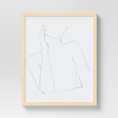"16"" x 20"" Linear Moment Framed Under Glass - Opalhouse™"