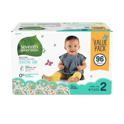 Seventh Generation™ Free & Clear Diapers Size 2 - 96ct