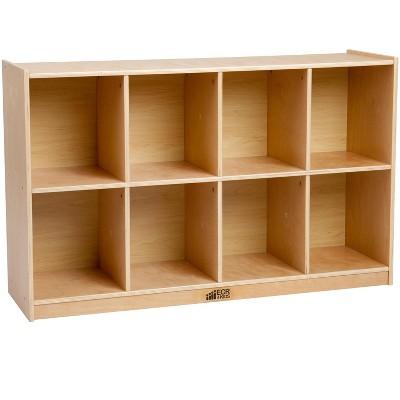 ECR4Kids Birch 8-Compartment School Cubby Storage, Kids Wood Shelf Organizer
