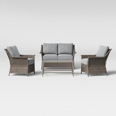 Foxborough 4pc Patio Conversation Set - Gray - Threshold™