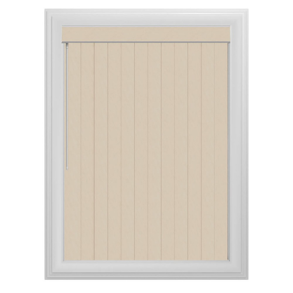 Vertical Maui Slotted Window Blind Lt Tan 66