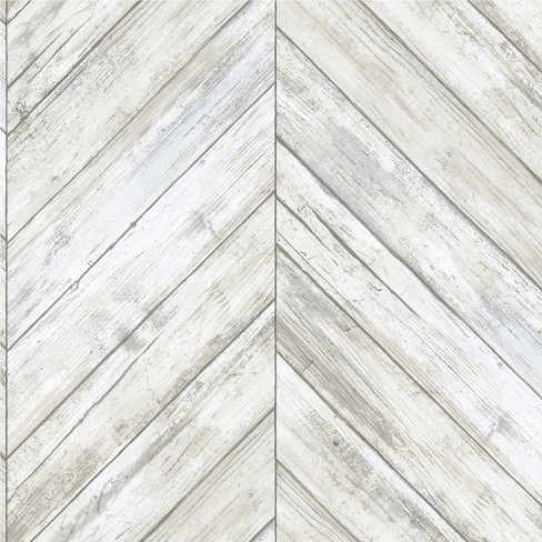 Roommates Herringbone Wood Boards Peel Stick Wallpaper Target