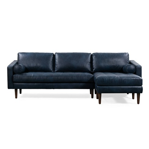 Florence Mid Century Modern Right Sectional Sofa Midnight Blue - Poly & Bark - image 1 of 4