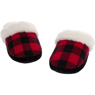 Silver Lilly - Women's Buffalo Plaid Holiday Slippers