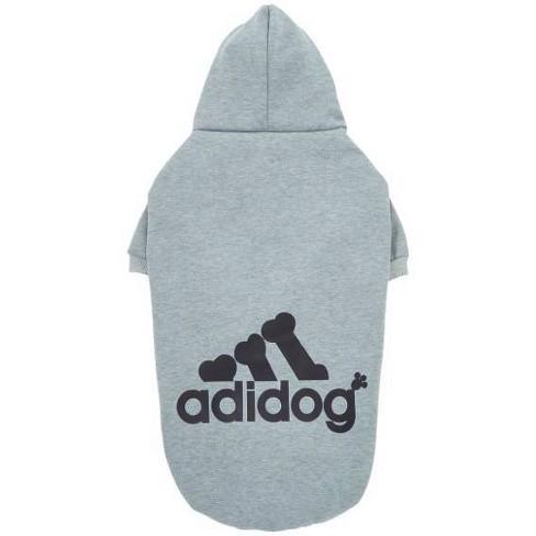 Fresh Pawz Adidog Logo Fleece Dog and Cat Hoodie - Gray - image 1 of 1