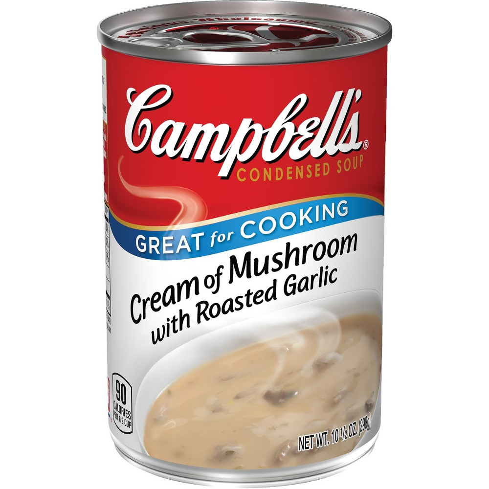 Campbell's Condensed Cream of Mushroom With Roasted Garlic Soup 10.5 oz