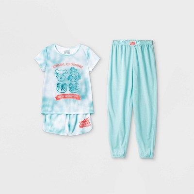 Girls' Animal Crossing 3pc Pajama Set