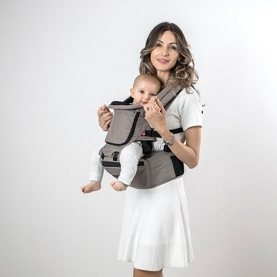 MiaMily Hipster Plus 3D Baby Carrier - Stone Gray