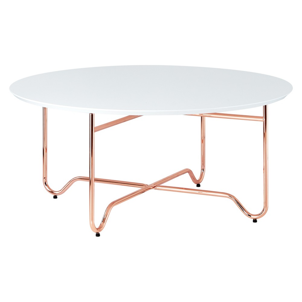 Coffee Table White Rose Gold