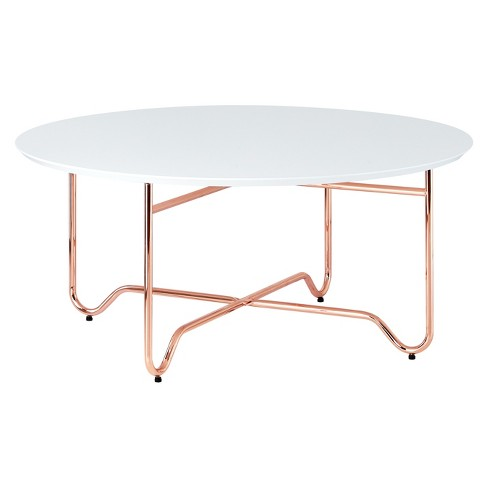 coffee table white rose gold target. Black Bedroom Furniture Sets. Home Design Ideas