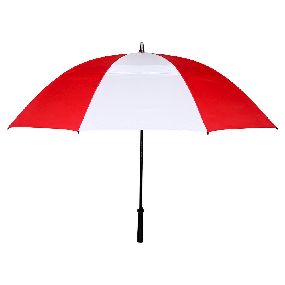 Vented Golf Manual Stick Umbrella - Red/White/Blue