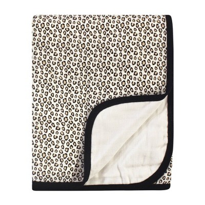 Baby Vision Little Treasure Unisex Cotton Muslin Tranquility Quilt Blanket - Leopard One Size
