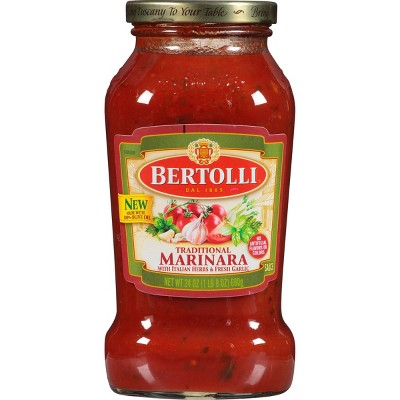 Bertolli Traditional Marinara, Italian Herbs & Garlic Pasta Sauce - 24oz