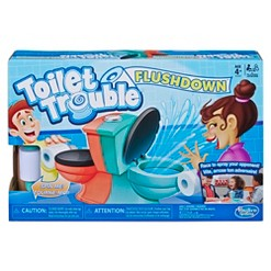 Toilet Trouble Flushdown Kids Game Water Spray Ages 4+