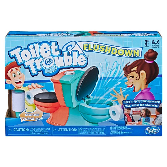 Toilet Trouble Flushdown Kids Game Water Spray Ages 4+ image number null