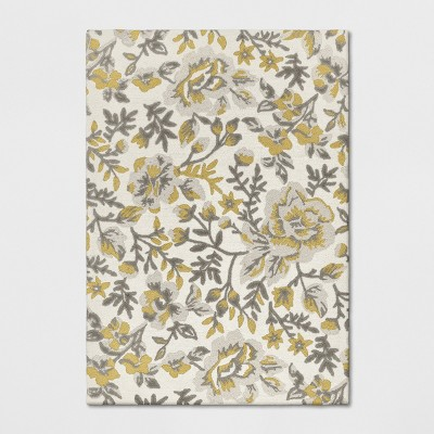 7'X10' Floral Tufted Area Rugs Yellow - Threshold™