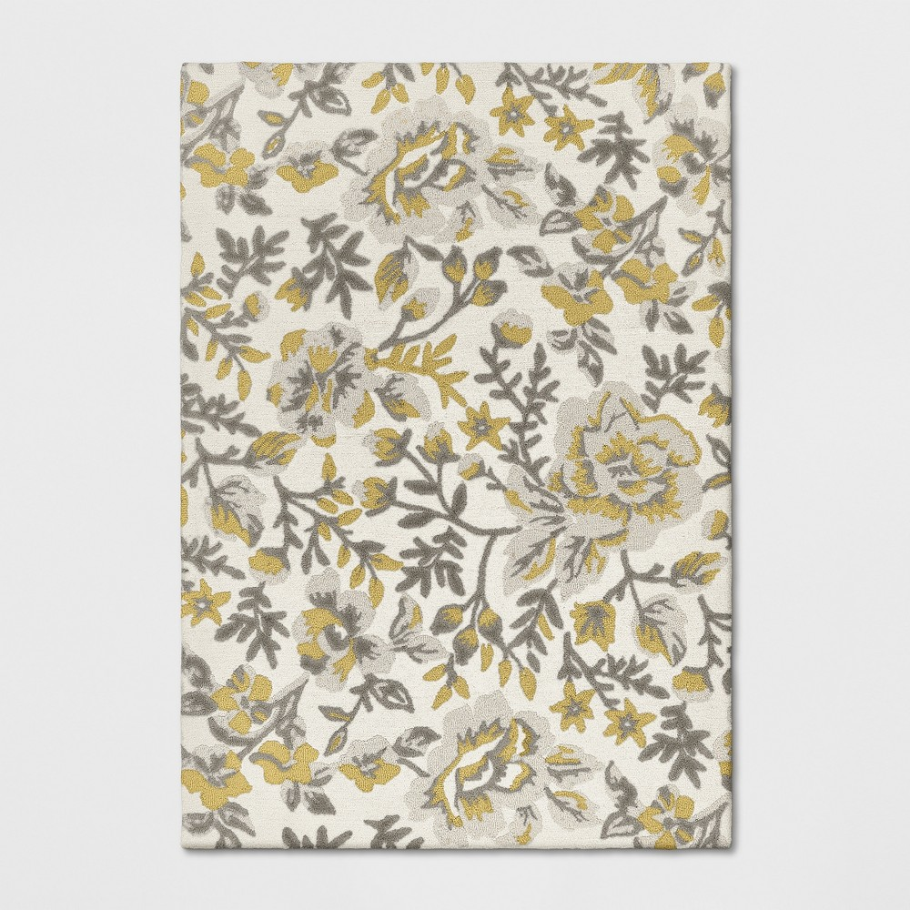 7'X10' Floral Tufted Area Rugs Yellow - Threshold