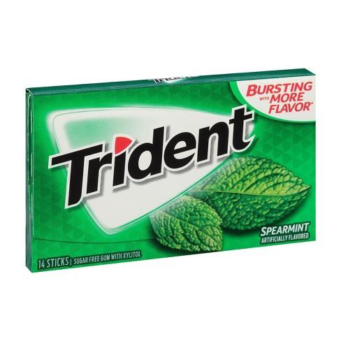 Trident Spearmint Sugar Free Gum - 14ct - image 1 of 4