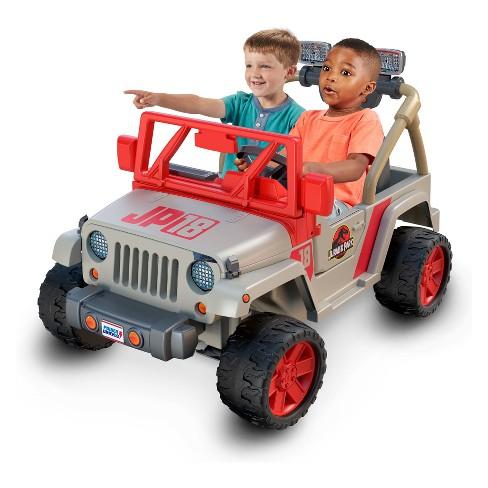 fisher-price power wheels jurassic park jeep wrangler : target