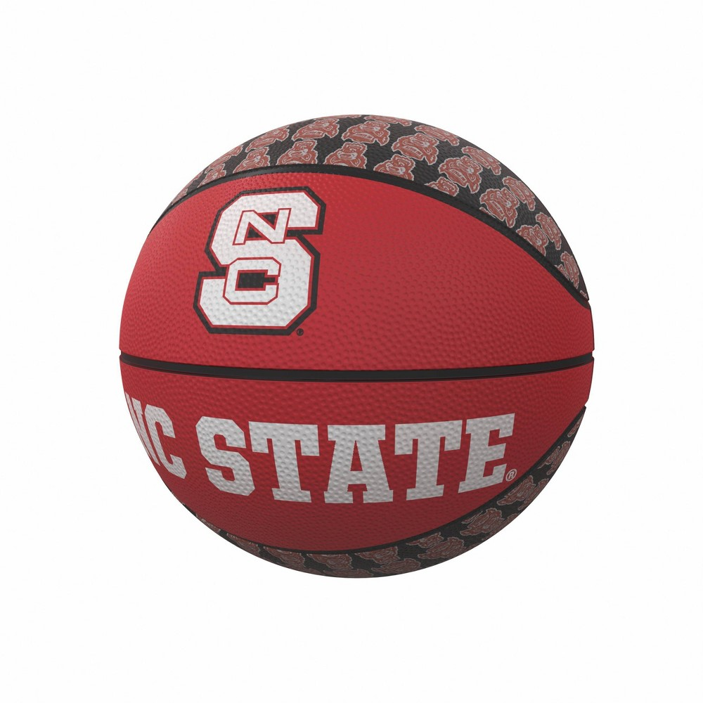 NCAA NC State Wolfpack Repeating Logo Mini-Size Rubber Basketball Cheap