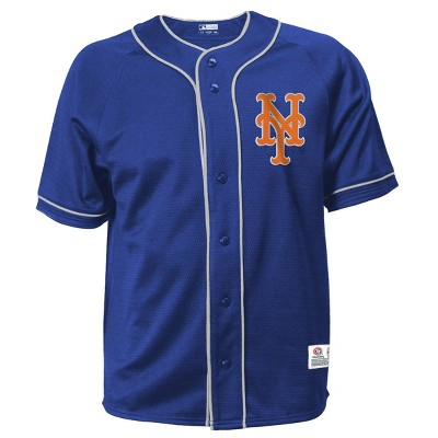 MLB New York Mets Men's Button-Down Jersey