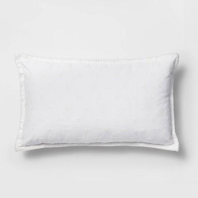 Lumbar Bee Eyelet Pillow White - Threshold™