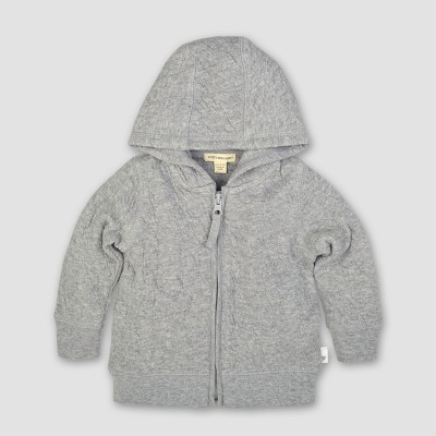 Burt's Bees Baby® Organic Cotton Quilted Jacket - Heather Gray 0-3M