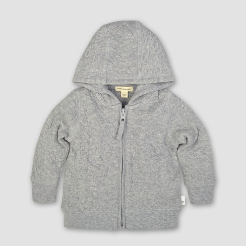 Burt's Bees Baby® Organic Cotton Quilted Bee Jacket - Heather Gray - image 1 of 2