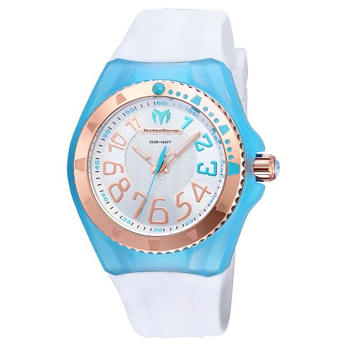 Women's Technomarine TM-115230 Cruise Original Quartz Silver and Blue Dial Strap Watch - White - image 1 of 1