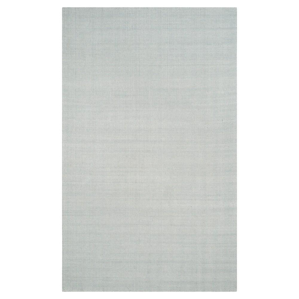 Light Blue Solid Woven Area Rug - (6'X9') - Safavieh
