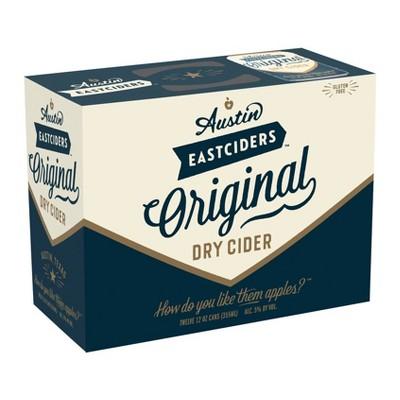 Austin Eastciders Original Dry Hard Cider - 12pk/12 fl oz Cans
