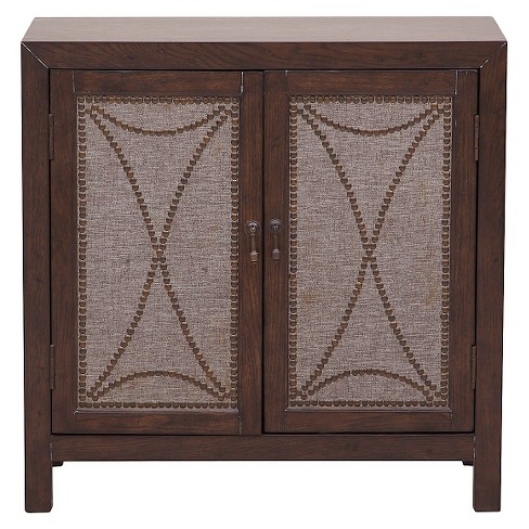 Griffen Accent Storage Console with Two Doors Dark Brown - Pulaski - image 1 of 3