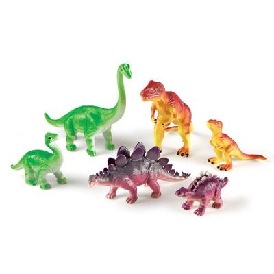 Learning Resources Jumbo Dinosaurs, Mommas and Babies, T-Rex, Stegosaurus, and Brachiosaurus, 6 Animals