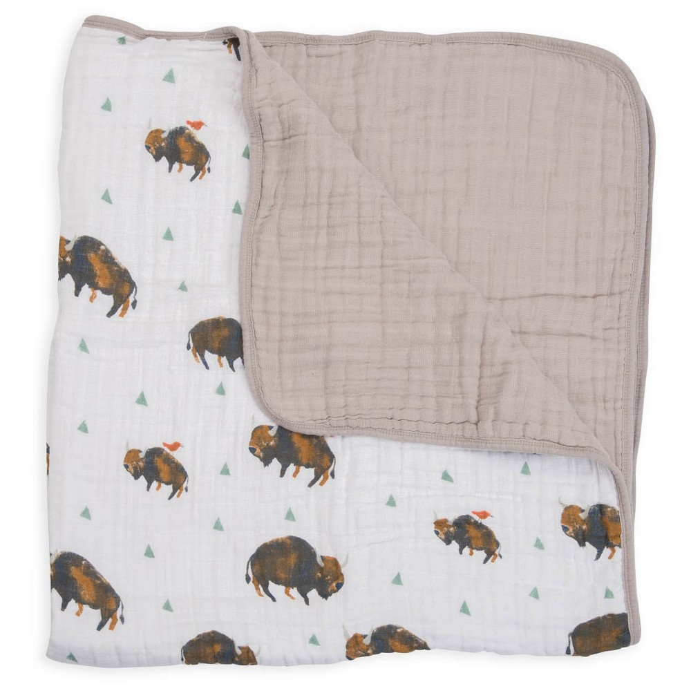 Image of Little Unicorn Fitted Quilt - Bison, Multi-Colored