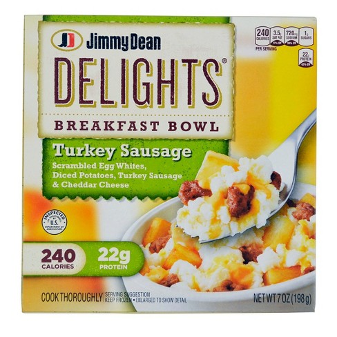 Jimmy Dean Delights Frozen Turkey Sausage Breakfast Bowl - 7oz - image 1 of 3