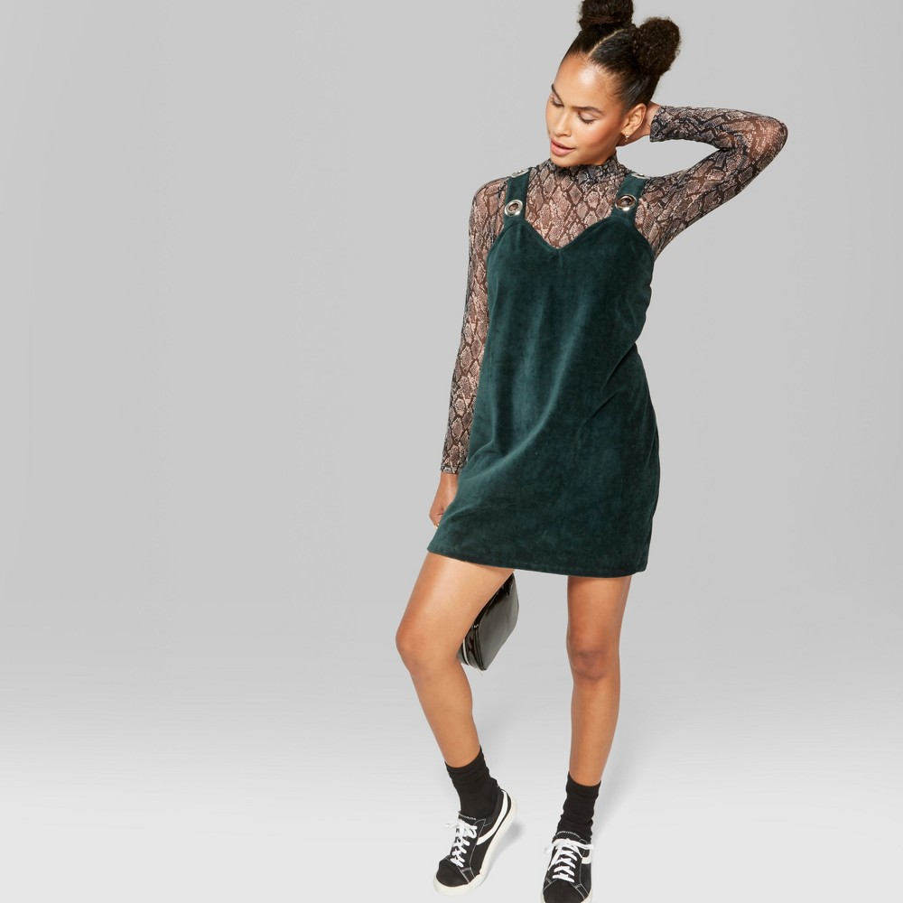 Women's Sleeveless Knit Grommets Mini Dress - Wild Fable Green XL was $20.0 now $10.0 (50.0% off)