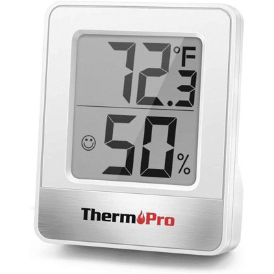 ThermoPro TP49 Mini Hygrometer Thermometer with Large Digital View Indoor Thermometer Humidity Gauge Monitor for Greenhouse Cellar
