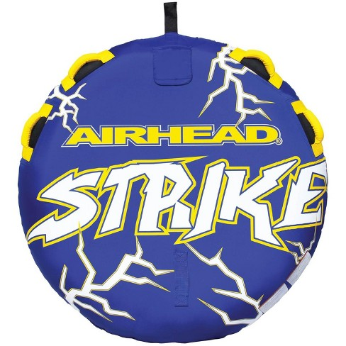 Airhead Strike 2 Single Rider Inflatable Towable Lake Water Deck Tube | AHST-23 - image 1 of 4