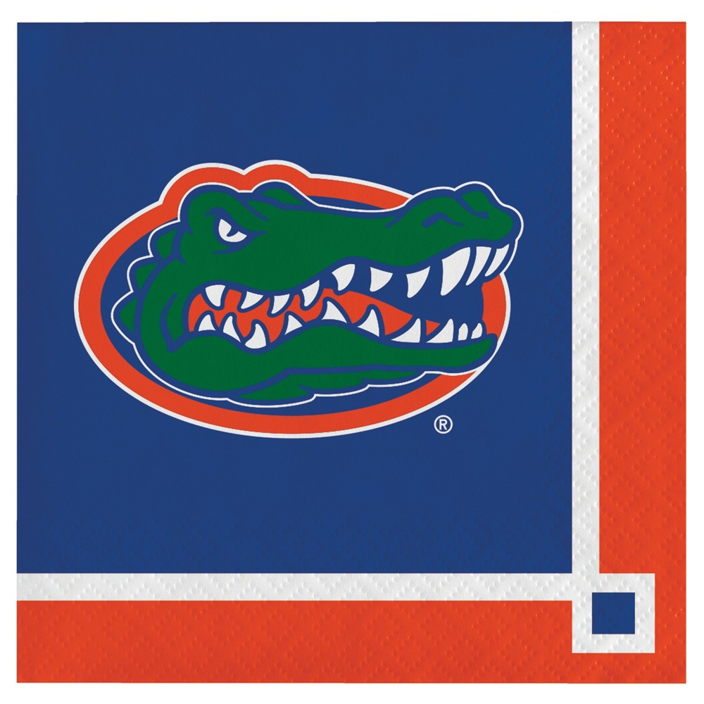 Image of 20ct University Of Florida Gators Cocktail Beverage Napkins