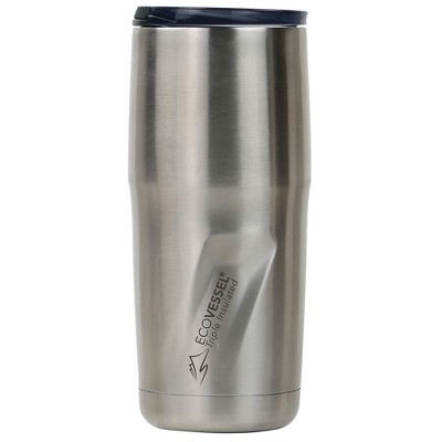 EcoVessel Metro 16oz (473ml)TriMax Triple Insulated BPA Tumbler with Slider Lid - Silver