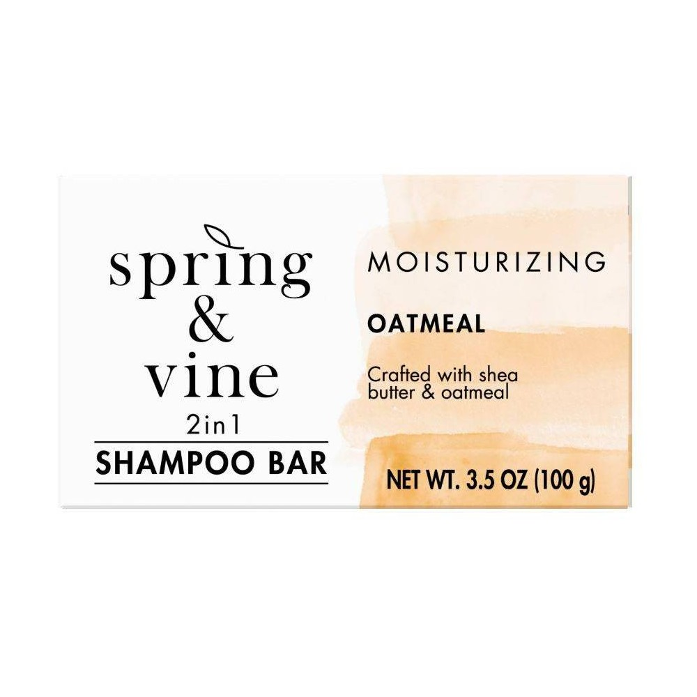 Image of Spring & Vine Oatmeal Gentle 2 in 1 Shampoo Bar - 3.5oz