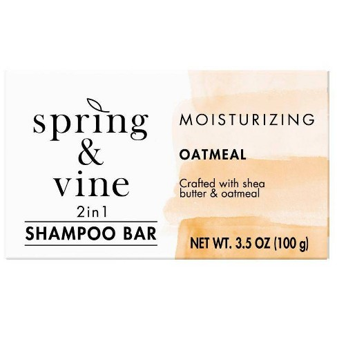 Spring & Vine Oatmeal Gentle 2 in 1 Shampoo Bar - 3.5oz - image 1 of 4