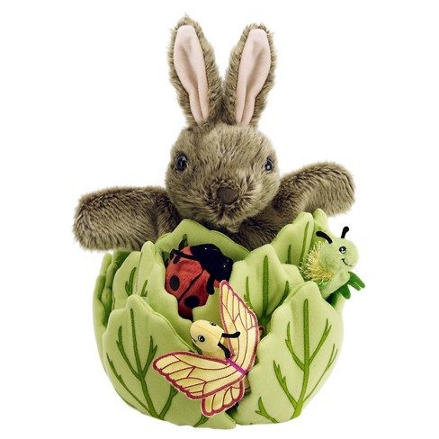 The Puppet Company Hide-Away Rabbit Plush Puppet - image 1 of 2