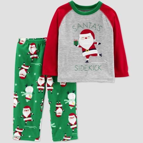 29bb6c476282 Toddler Boys  Santa s Sidekick 2pc Pajama Set - Jus   Target
