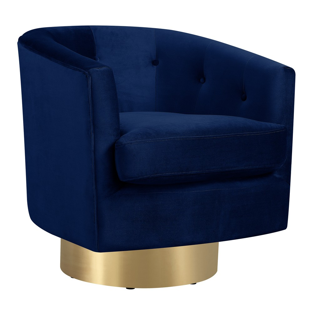 Carolina Swivel Accent Chair Navy Blue - Picket House Furnishings