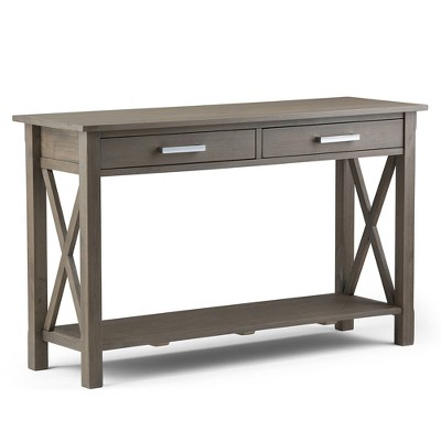 Kitchener Console Sofa Table   Farmhouse Grey   Simpli Home