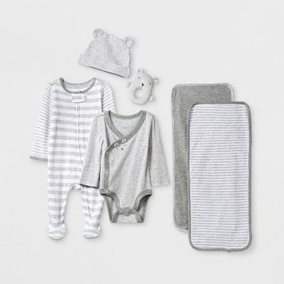 Baby Boys' 6pc Gift Box Set - Cloud Island™ Gray 0-3M