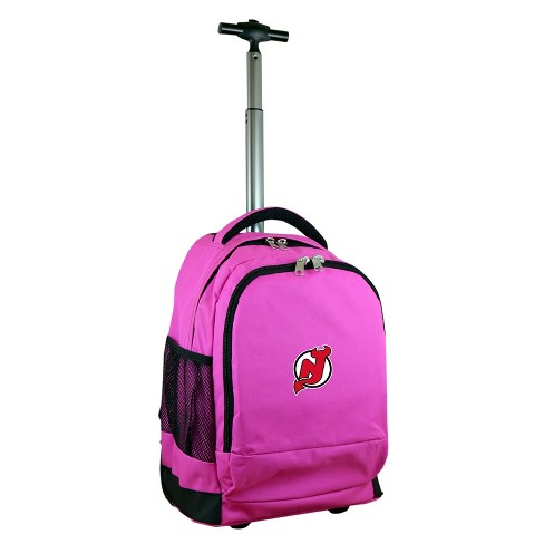 NHL New Jersey Devils Mojo Premium Wheeled Backpack - Pink - image 1 of 4